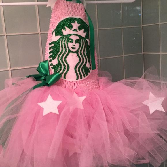 Pink Starbucks Tulle Halloween Costume 18 24mo